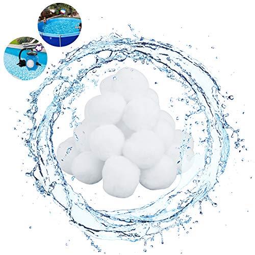 Ledoo Filter Balls 350g Kartuschenfilter Balls für poolpumpe Aquarium Filterkugeln für Sandfilteranlagen Ersetz 11kg Filtersand für Pool Sandfilter Anlage
