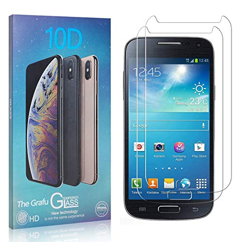 The Grafu Displayschutzfolie für Galaxy S4 Mini, 3D Touch, Blasenfrei, 9H Ultra klar Schutzfolie aus Gehärtetem Glas Kompatibel mit Samsung Galaxy S4 Mini, 2 Stück