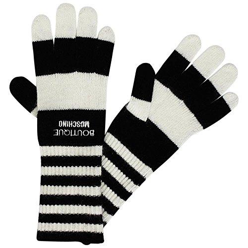 Moschino BOUTIQUE Strick-Handschuhe mit Streifen, unisize