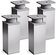 Jueyan Pata de la Mesa Pies para Muebles /Ø60 mm Patas de Mueble Altura de la Mesa Altura Regulable 710-1100mm Pata de Escritorio de Metal Estables Regulables en Altura Soporta 50 kg,Negro