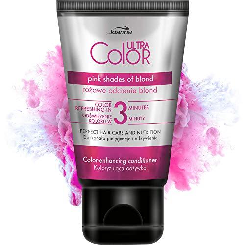 Joanna Ultra Color - Farbschutz-Spülung Conditioner in Rosafarben für Natürliches und Gefärbtes Haar - Feuchtigkeitsspendend - Ammoniakfrei - Farbauffrischung und...