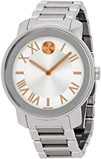 Movado Womens Swiss Quartz Stainless Steel Watch, Color: Silver-Toned (Model: