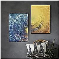 Ychomecp-アートパネル 23.6x31.5in(60x80cm)x2pcs No Frame 抽象的なミニマリストテクスチャキャンバス絵画壁アート写真ソファ背景エントランス壁アート写真部屋デコ美学 フレームなし