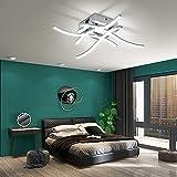 OTREN Lámpara Led Techo Moderno, Plafon Led Techo con Diseño Curvo, Luz LED con 4 Lámpara Placas para Sala de Estar Dormitorios Pasillo Oficina Cocina, 6000K