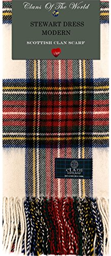 I Luv LTD Stewart Dress Modern Tartan Clan Scarf 100% Soft Lambswool