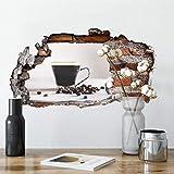 Kaffeepause 3D Wandtattoo Küche Wandsticker Esszimmer