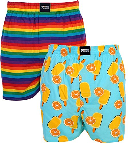 Happy Shorts 2 Webboxer Herren Boxer Motiv Boxershorts Design 20, Grösse:M - 5-50, Präzise Farbe:Design 20
