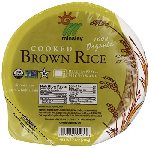 Steamed Brown Rice Bowl Organic Microwaveable 74 OZ Bowls Pack Of 12