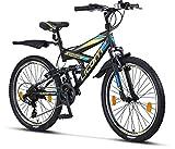Licorne Bike Strong V - Bicicleta de montaña de 24 pulgadas Fully,...