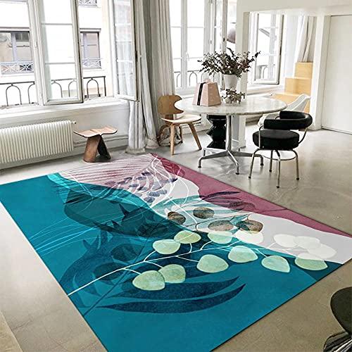 alfombras para Dormitorio Sala de Estar Alfombra Gris, patrón de baldosas de Piso Cómodo Yoga Almohadilla Lavado de Agua Aislamiento de Sonido Alfombra Alfombra Lavable -Gris_180x280cm