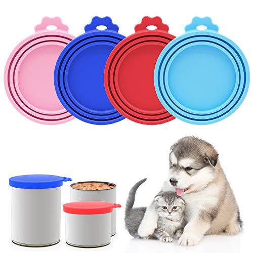 JLNGTHONG Tapa de lata para comida para mascotas, fácil de limpiar, perfecta para una comida normal para gatos o perros pequeña (4 unidades)