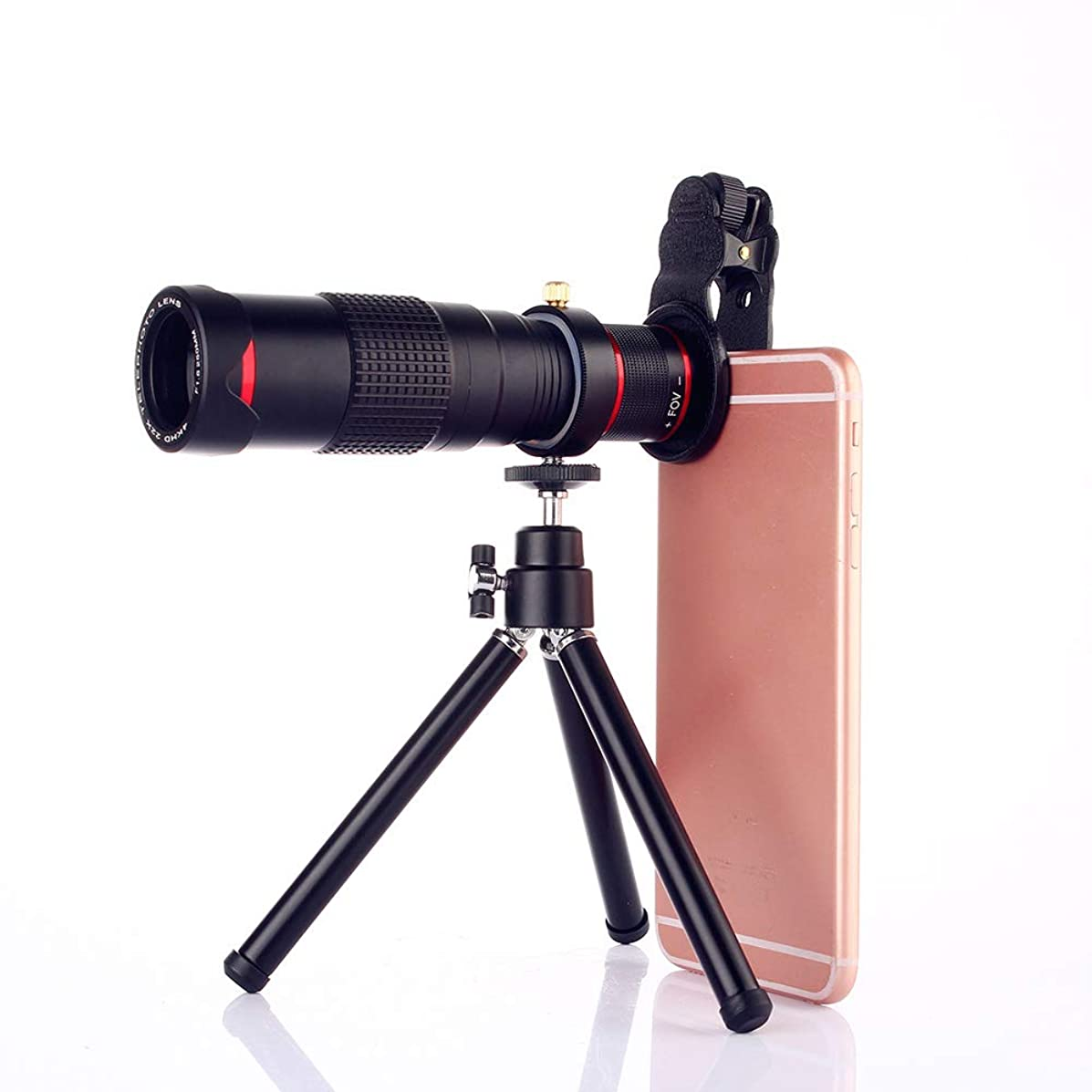 Aingol Cell Phone Lens 22x Telephoto Lens Super Wide Angle Lens Macro Lens 3 in 1 Phone Camera Lens Kit with Universal Clip and Mini Flexible Tripod for iPhone Most Smartphones