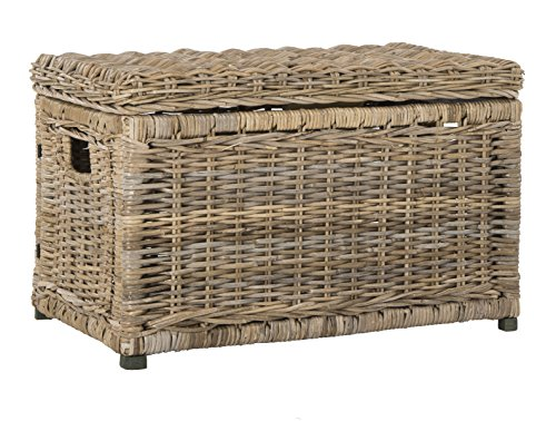 wicker trunk coffee table - 1