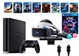 PlayStation VR Launch Bundle 9 Items:VR Launch Bundle,PS4 Slim- Uncharted 4,7VR Game Disc Until Dawn:Rush of Blood, Valkyrie,Battlezone,Arkham VR, DriveClub,Eagle Flight,Com(Versione USA, importato)