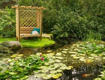 GartenlaubenundCarports Köln Pergola mit Bank 207 x 119 x 85