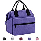 Srise Lunch Box Insulated Lunch Bag For Men & Women Meal Prep Lunch Tote Boxes(Purple)