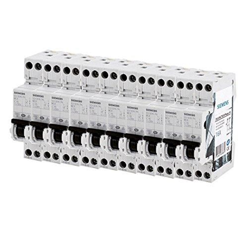 SIEMENS - Lot de 10 Disjoncteurs électriques phase + neutre 16A