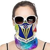 Quarto Emblema Air Force Moda Varietà Testa Sciarpa senza cuciture Maschera Viso Bandana Per Polvere, Esterni, Festival, Sport