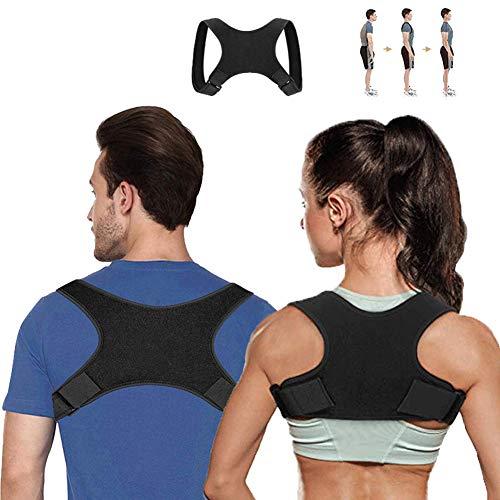 Fyore Back Braces Posture Corrector für Männer und Frauen - Einstellbare Schulter- und Rückenstütze - Schmerzlinderung für Rücken/Schulter und Nacken (Schwarz 01/68-128cm)