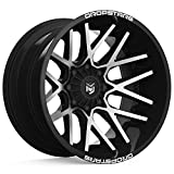 Dropstars 654MB DEEP CONCAVE BLACK Wheel with Gloss Mirror Machined Face (0 x 10. inches /5 x 108 mm, -25 mm Offset)
