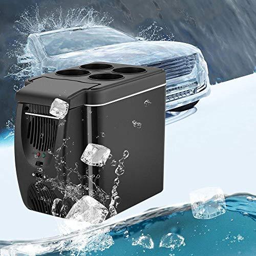 Autokoelkast, Minikoelkast 6l 12v Icebox Milieubescherming En Dempen Voor Auto, Compressorkoelbox Met Vriezer Met Koeling En Verwarming,Black