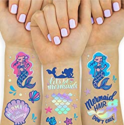 mermaid tattoos party favors