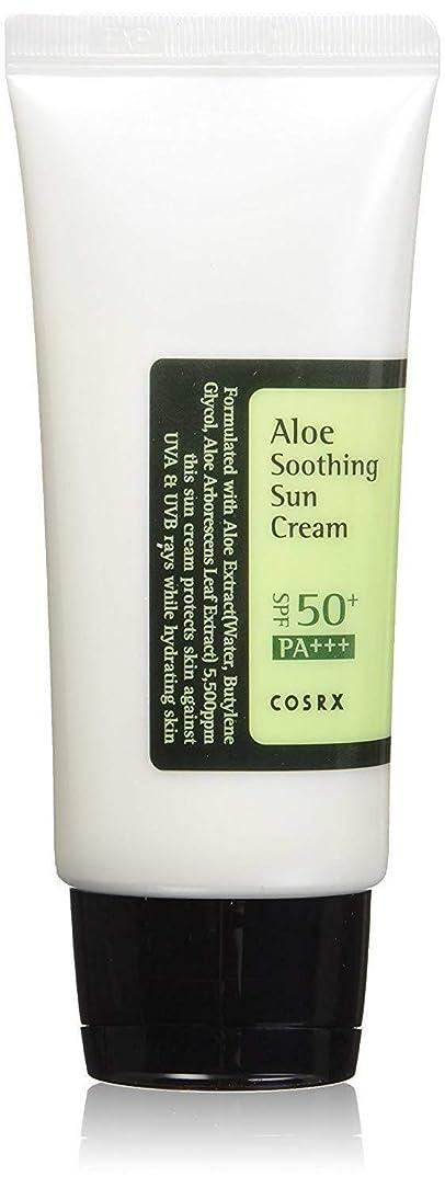 考えた緊急放棄された[ COSRX ] コースアールエックス アロエ スージング サンクリーム Aloe Soothing sun cream (50ml) SPF50+/PA+++ 韓国 日焼け止め