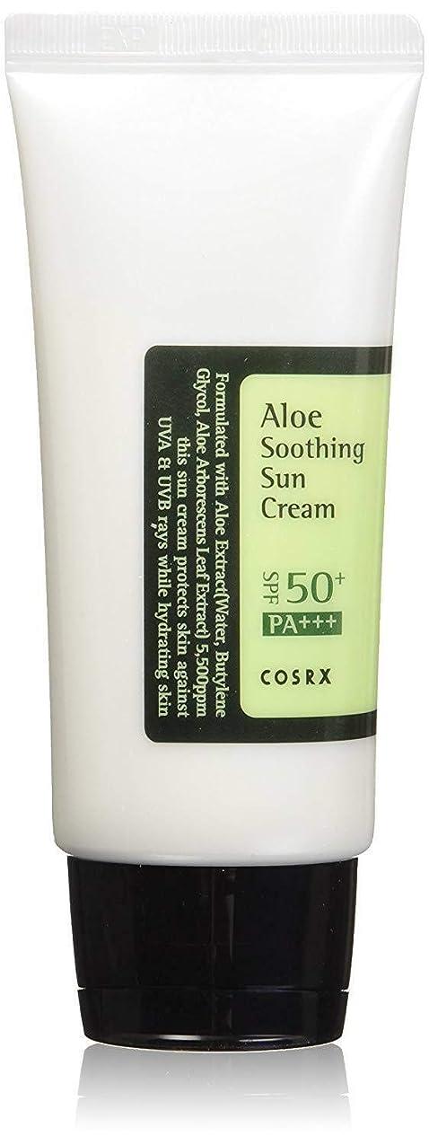 過半数種類心理的に[ COSRX ] コースアールエックス アロエ スージング サンクリーム Aloe Soothing sun cream (50ml) SPF50+/PA+++ 韓国 日焼け止め