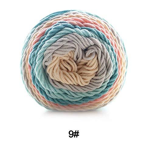 AIHOME 193m Chenilla Hilo klumpiges Woll Hilo Tejer de Bufandas pullis Toallas Arco Iris Suave Grueso de Lana