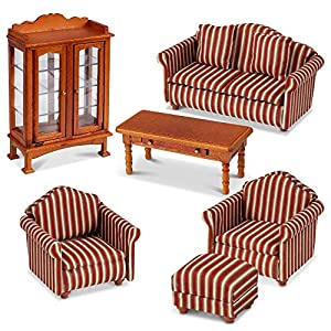 Melissa & Doug Victorian Wooden Dollhouse Furniture
