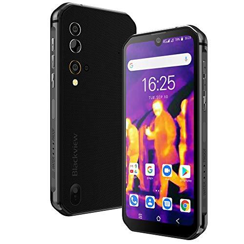 Blackview BV9900Pro simフリー スマホ本体 8GB RAM +128GB ROM Android 10 オクタコア IP68防水スマートフォン 48MP+16MP AIカメラ 5.84インチ水滴型 FHD+大画面 4480mAhバッテリー ワイヤレス充電 耐衝撃 タフネススマホ 指紋&顔認証 4G デュアルSIM(Nano) 1年間保証付き