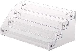 Teerfu - Estantería de plástico transparente para pintauñas y cosméticosSoporte transparente., acrílico, transparente, 4Layer