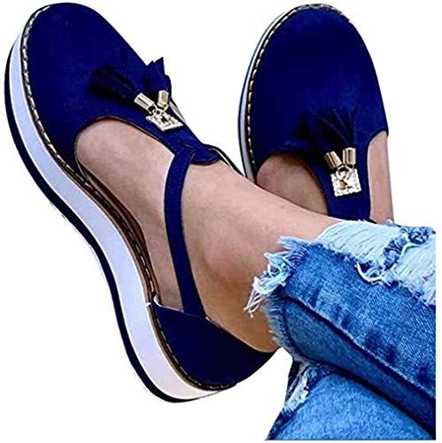 JSONA Bunion Sandals for Women Comfy Wedge Heel Platform Corrector Shoes PU Women Flip-Flop Ladies Shoes Wedge Sandals Summer Beach Sandal,Yellow,41