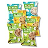 Munch Rights Baked Puffs Mixed Variety Pack, 2x White Cheddar, 2x Cheddar Sour Cream, & 2x Apple Cinnamon, 3 oz Bags (Pack of 6)