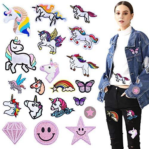 Unicornio Apliques,Parches ropa niña,Parches Unicornio Ropa,Patch Sticker,Parches termoadhesivos para niños,Pegatinas ropa termoadhesivos,Parche de Ropa,Parches infantiles,Parches de planchado