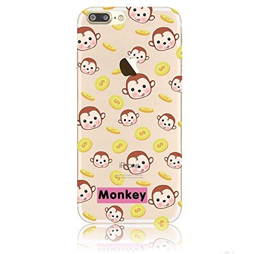 blitzversand Handyhülle Monkey AFFE kompatibel für Samsung Galaxy S5 Mini Monkey Theme Schutz Hülle Case Bumper transparent rund um Schutz Cartoon M7