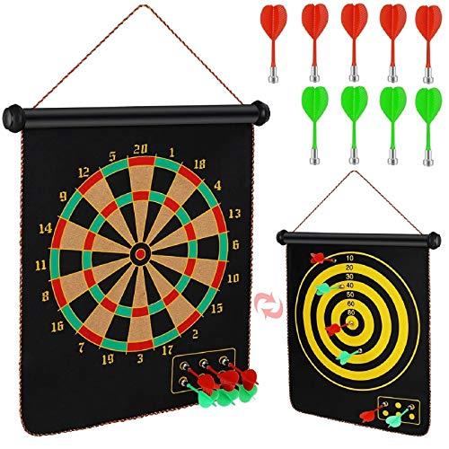 Magnetic Dart Board, Indoor Outdoor Dart Games for...