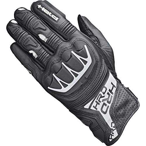 Held Gants de moto gants de moto longs Kakuda Gant noir/blanc (longs doigts) 11, Hommes, Sportler, toute l'année, blanche