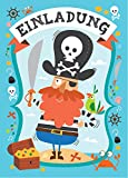 12 Einladungskarten 'Piraten' zum Kindergeburtstag + 13 Sticker GRATIS - für Jungen und Mädchen / Piratenparty Schatzsuche Mitgebsel Geburtstagseinladungen Karten Einladungen Geburtstag Kinder