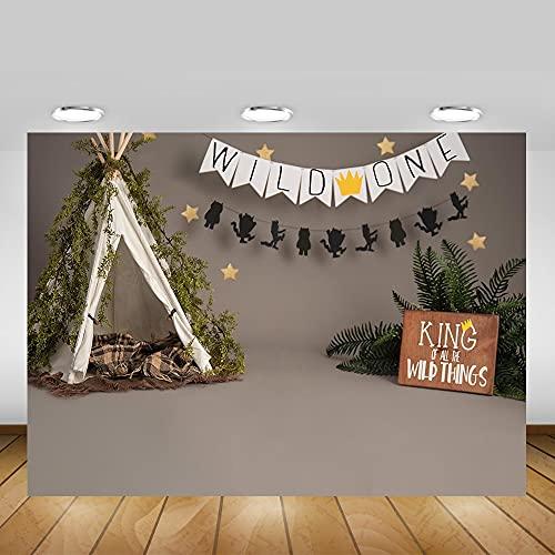 Fondo de cumpleaños de recién Nacido sesión de Fotos Animales de la Selva Tienda de campaña niños Retrato de Fondo fotografía A1 10x10ft / 3x3m
