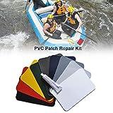 Kit de reparación de parches de PVC, kit de reparación pinchazos, parches piscina impermeables, conjunto de pegamento para piscinas Radeau hinchable Kayak juguetes para piscinas Radeau hinchable