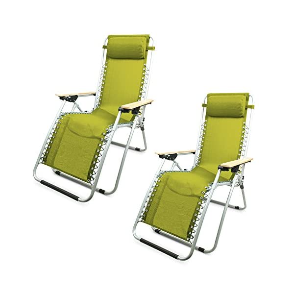 Garden Life Zero Gravity Chair Pack of 2 - Various Colour Options