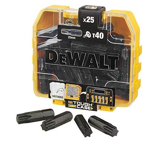 DEWALT DT70559T-QZ - Caja de puntas de impacto torsión (25 x T40 25 mm) para taladro atornillador