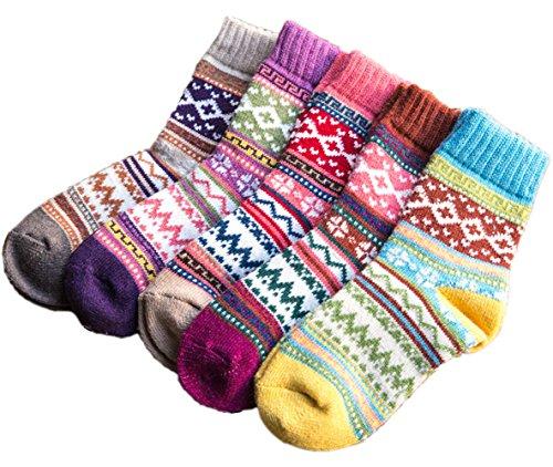 Amberzina Women's Vintage Style Wool Thick Warm Socks