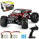 Rcabcar High Speed Remote Control Car for Kids Adults,4WD All Terrains Waterproof Drift Off-Road Vehicle,2.4GHz RC Road Monster Truck Included 2 Rechargeable Batteries,Toy Gift for Boys Girls(Red)
