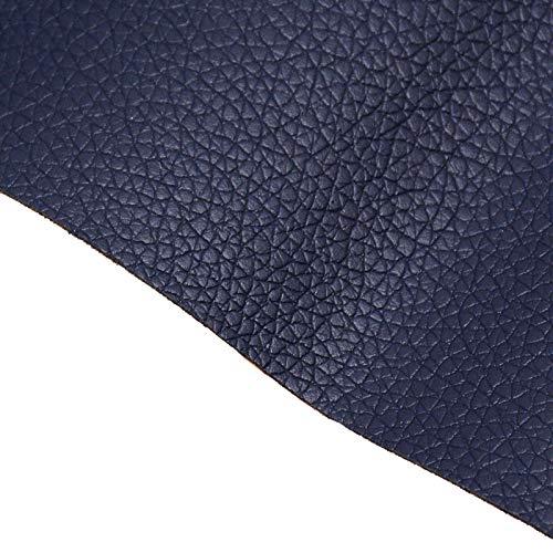 BENECREAT Parche de reparación de piel adhesivo de 60 x 30 cm para muebles de asientos de coche para sofás (azul oscuro, 0,8 mm de grosor)