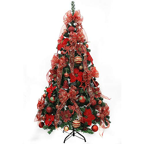 KKLTDI Detachable Alpine 6.8ft Artificial Christmas Tree, Premium with Decoration Christmas Tree for Holiday Decoration Xmas Tree-d 210cm(6.8ft)