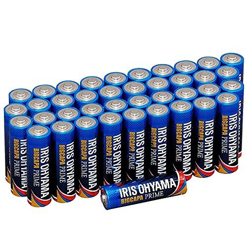 【Amazon.co.jp限定】 アイリスオーヤマ 乾電池 単3 アルカリ 40本パック 長寿命 10年保存 BIGCAPA PRIME 40P