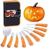 Pumpkin Carving Kit for Adults & Kids, Halloween Jack-O-Lanterns 9 Pieces Professional Pumpkin...