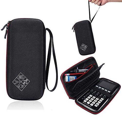 coolnice NiceCool tas hoes voor Texas Instruments TI-84 Plus CE Graphics Calculator, 83, 85, 89, 82, Plus/C rekenmachine beschermhoes case hoes zwart en rood